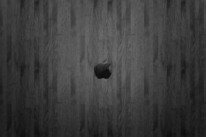 wood wallpaper apple dark