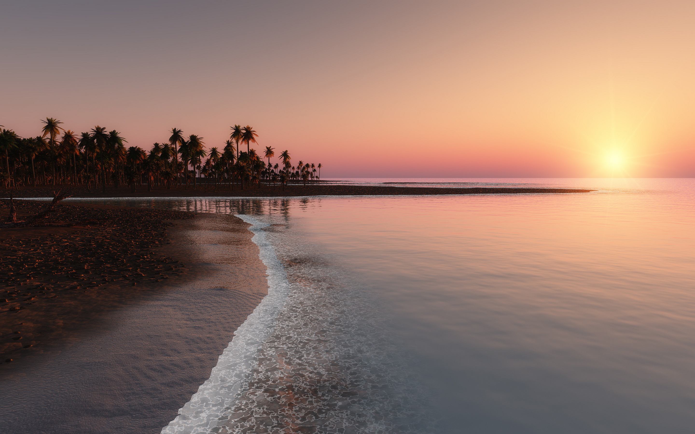 awesome sunset wallpapers tropical