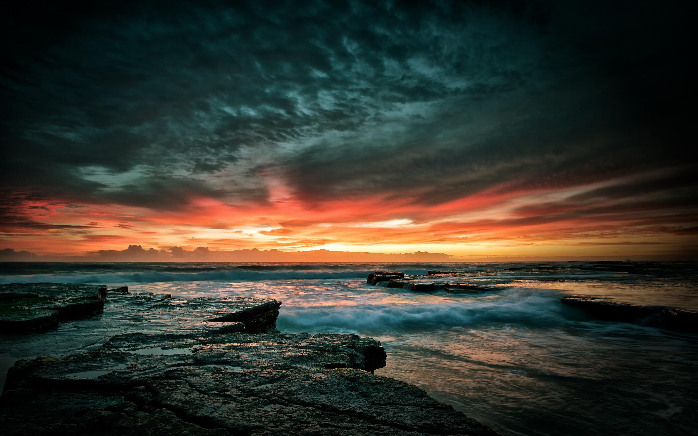 Beach Sunset Scenery Hd Desktop Wallpapers 4k Hd