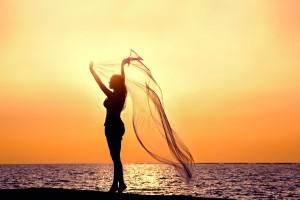 beach sunset wallpaper girl
