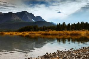 beautiful lake alberta canada