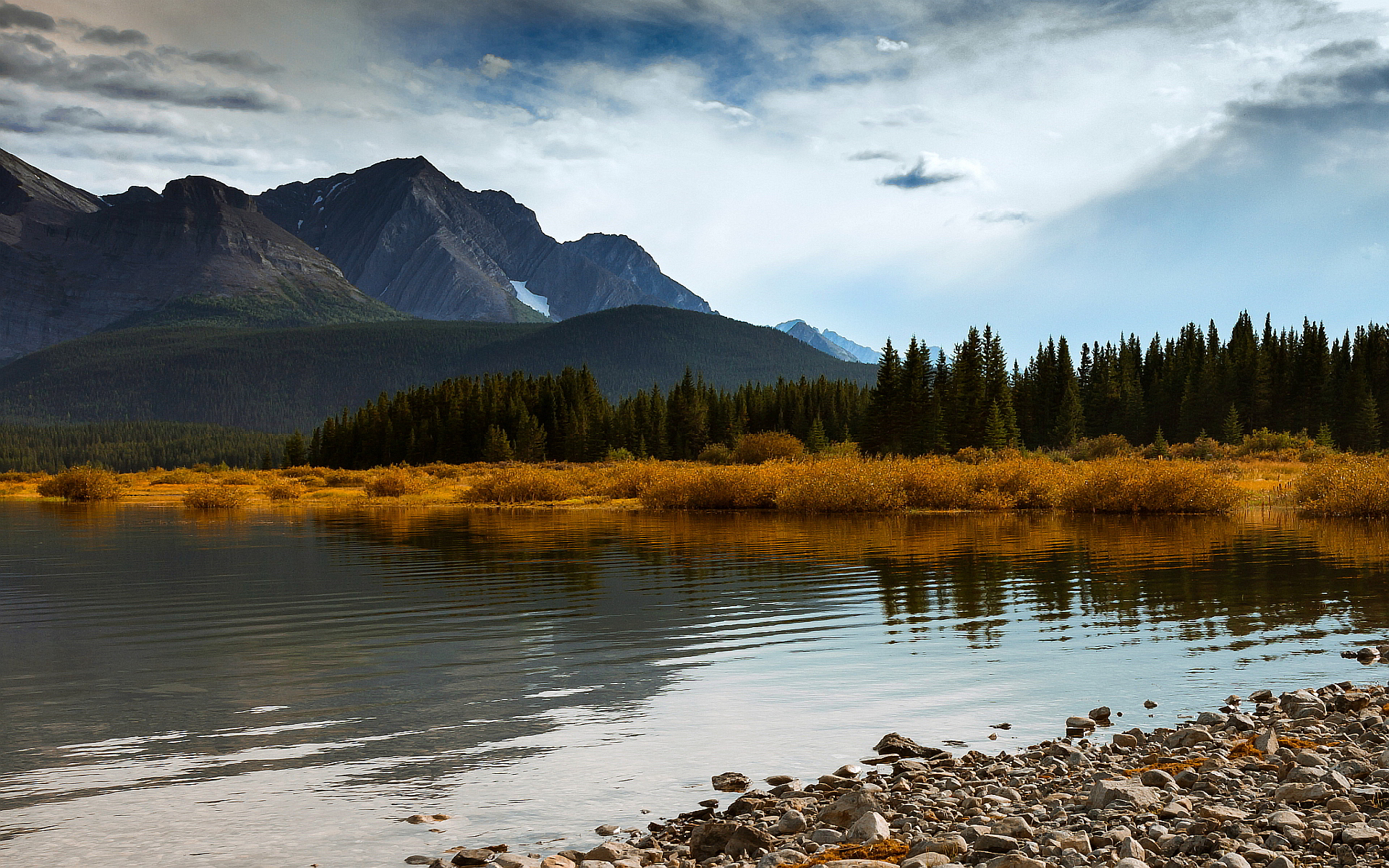 Beautiful Lake Alberta Canada Hd Desktop Wallpapers 4k Hd