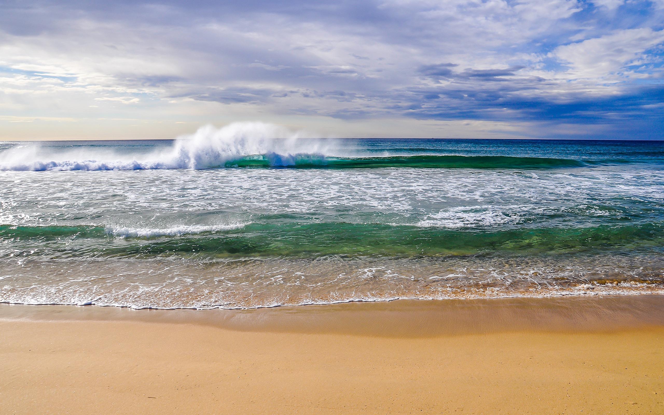 beautiful wallpaper beach waves