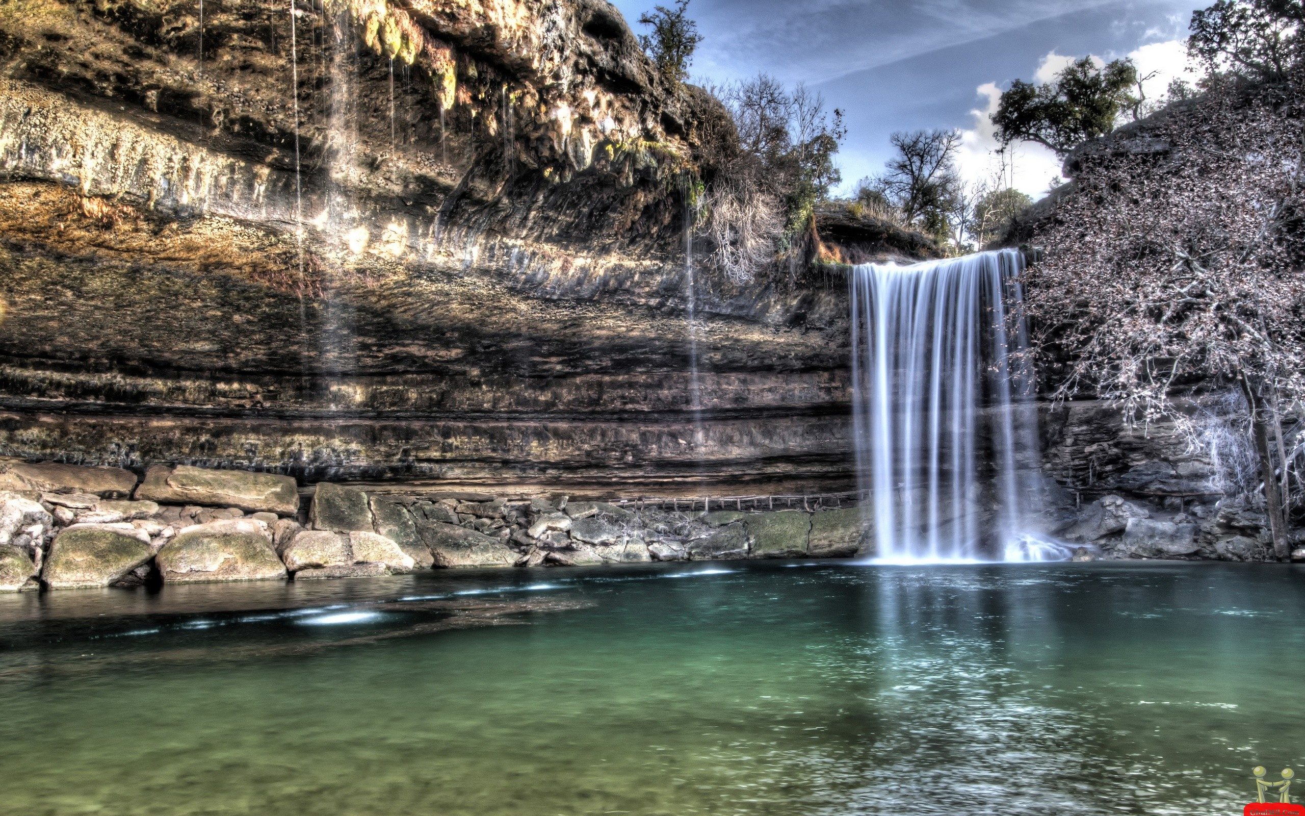 canyon waterfall wallpaper