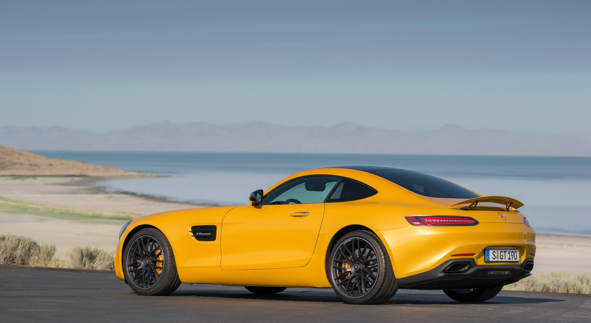 mercedes amg gt yellow beautiful