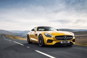 mercedes benz amg gt yellow mobile