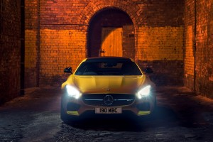 mercedes benz amg gt yellow picture