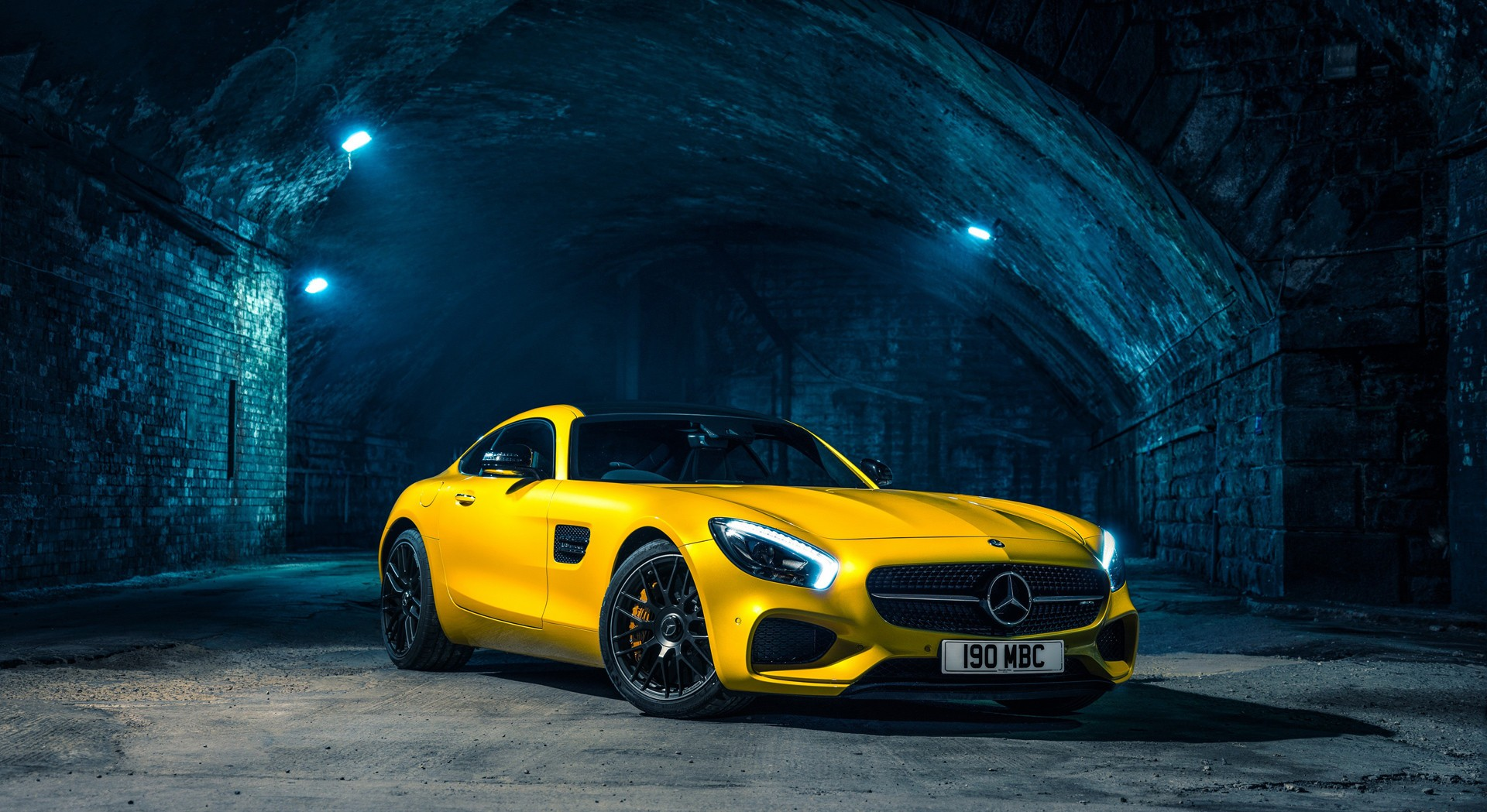 mercedes benz amg gt yellow wallpaper