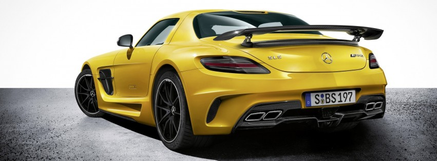 mercedes benz sls amg yellow rear - HD Desktop Wallpapers ...