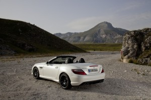 mercedes slk white rear