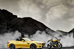 mercedes slk yellow image