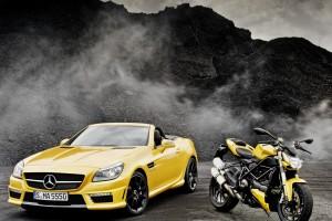 mercedes slk yellow images
