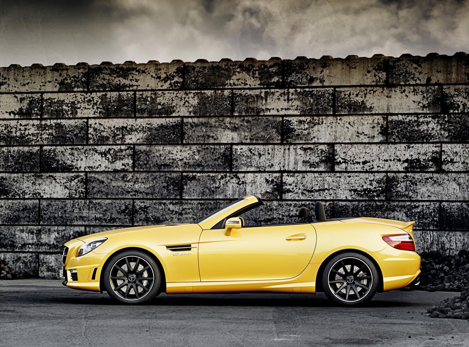mercedes slk yellow
