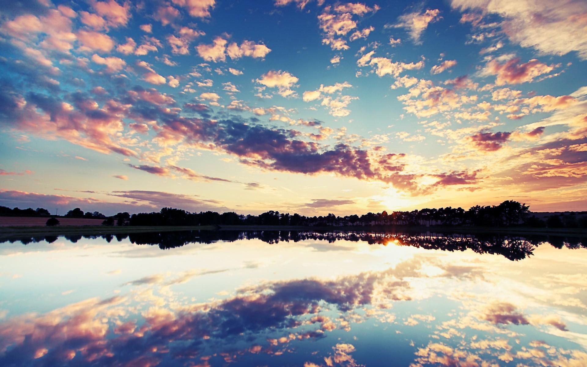 1440x900 sunset lake desktop - photo #45