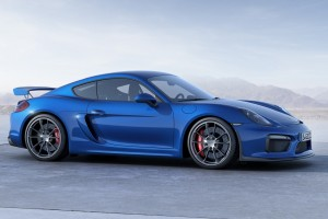 porsche cayman blue car