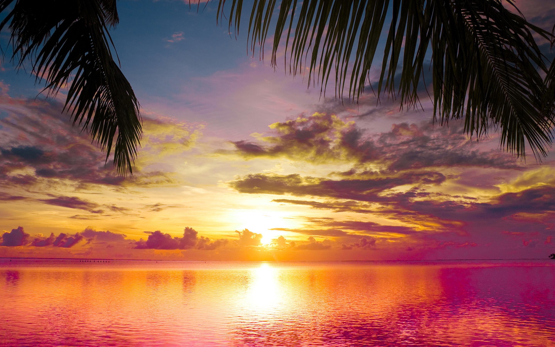 Sunset Beach Landscape Hd Desktop Wallpapers 4k Hd