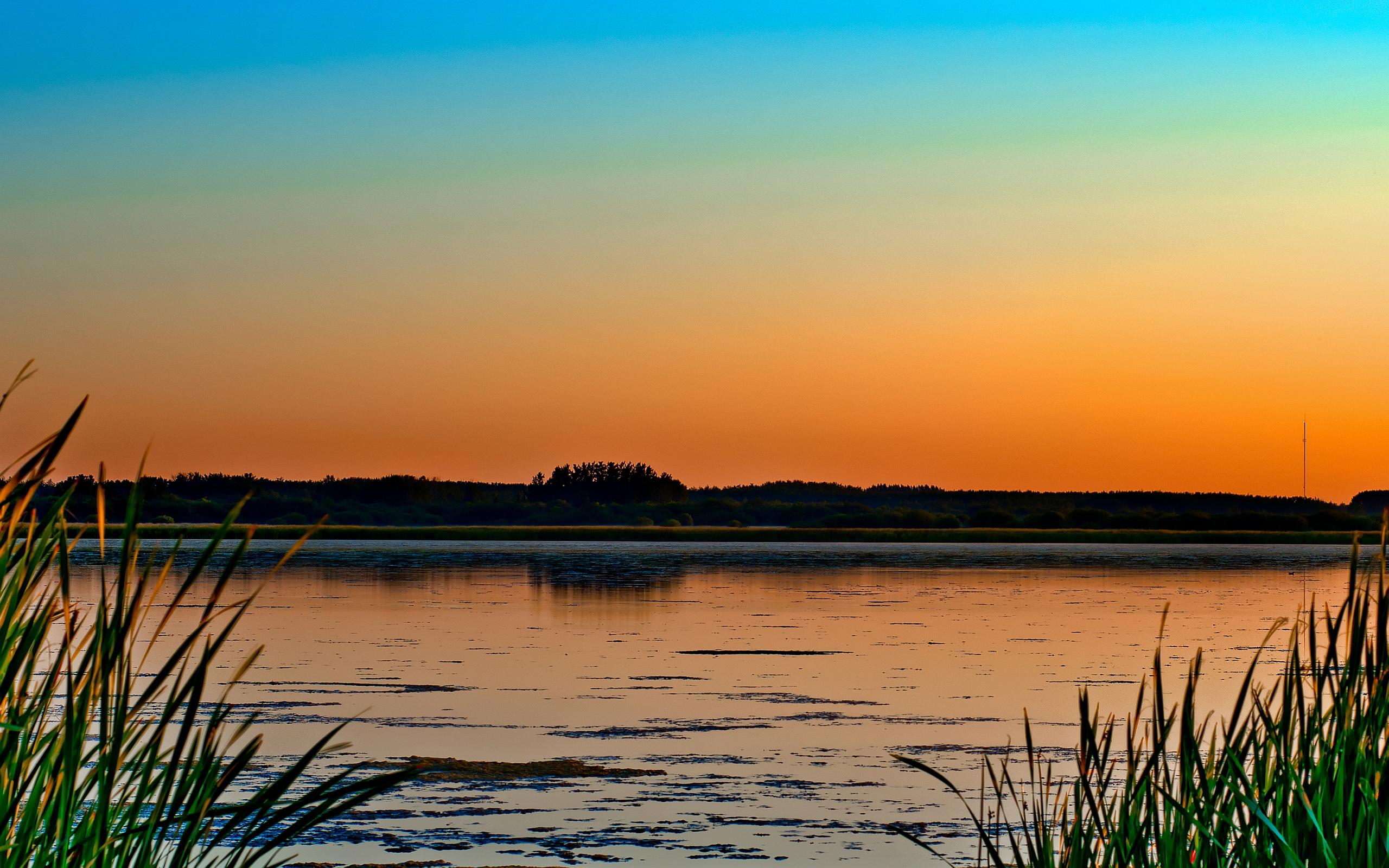 1440x900 sunset lake desktop - photo #18
