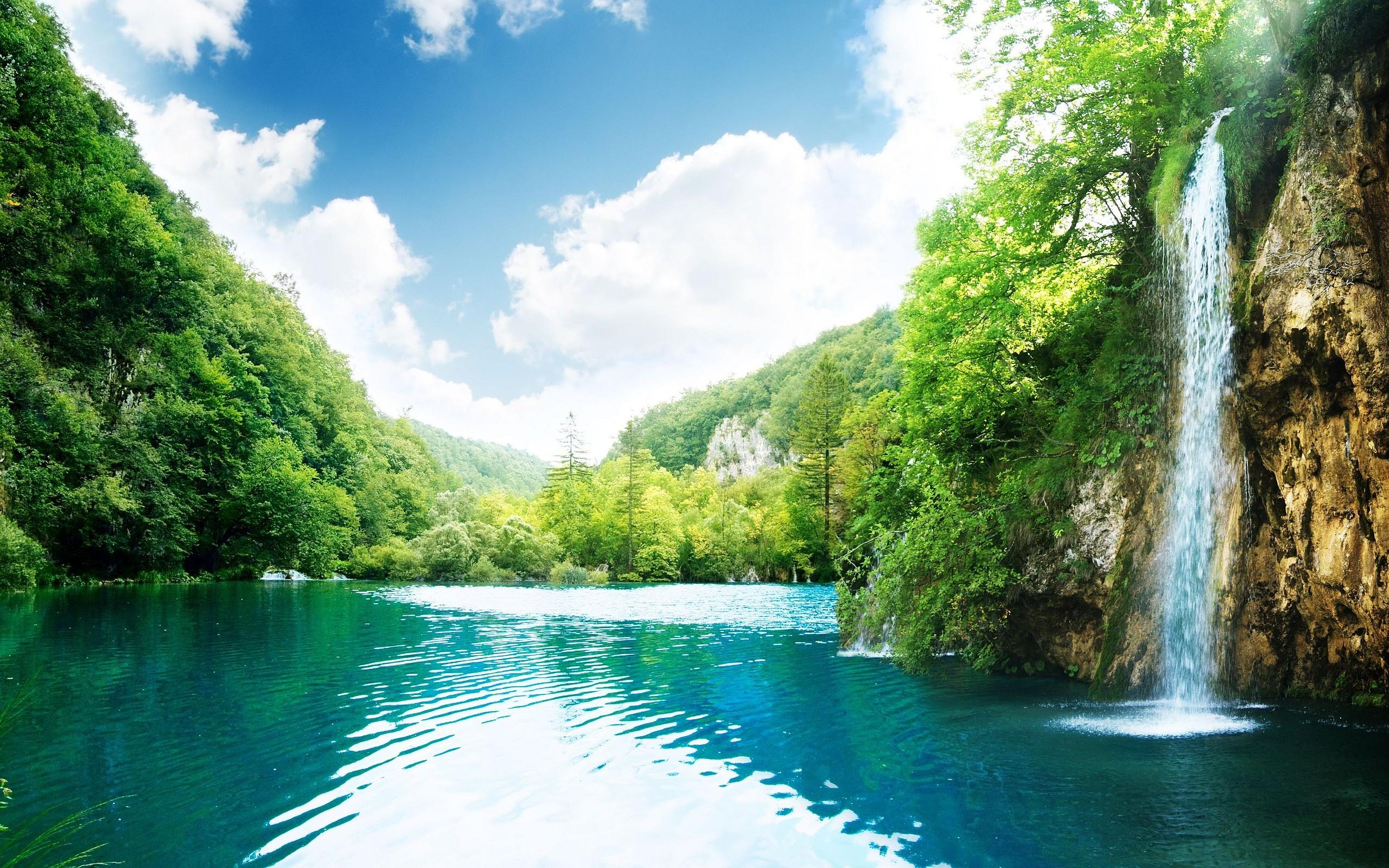 Waterfall Wallpapers Landscape Hd Desktop Wallpapers 4k Hd
