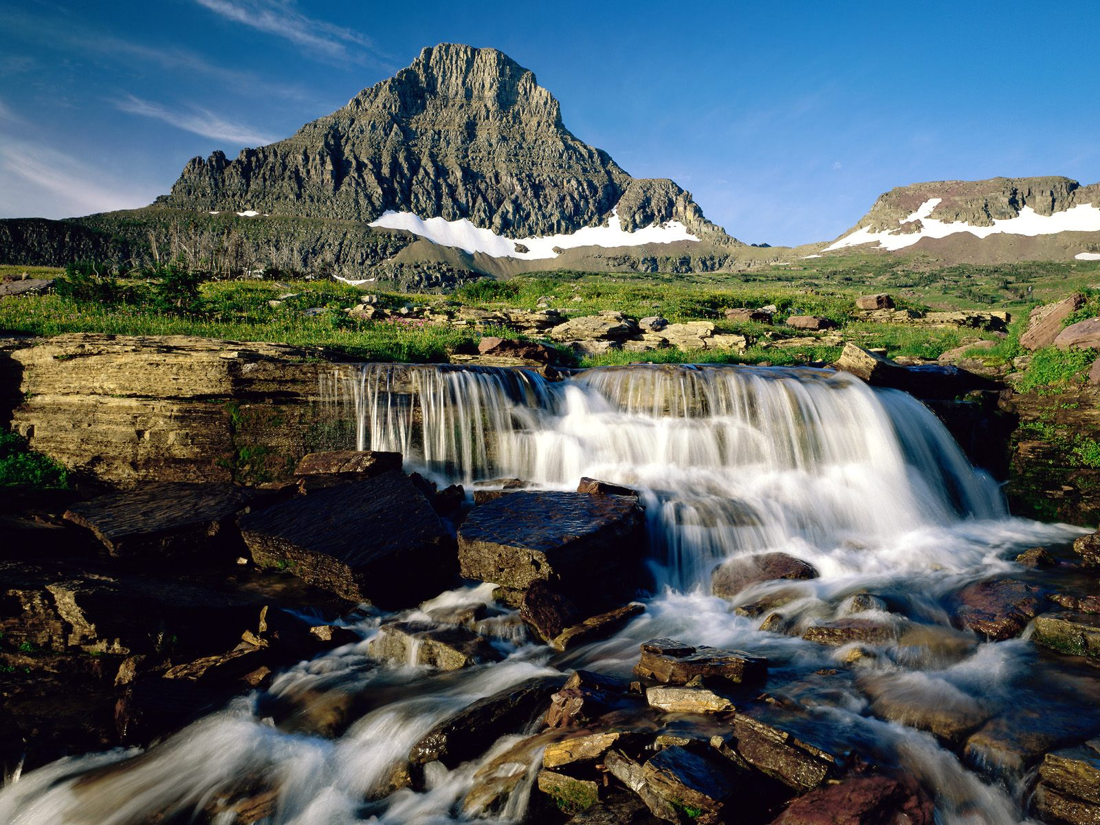 alps waterfall nature