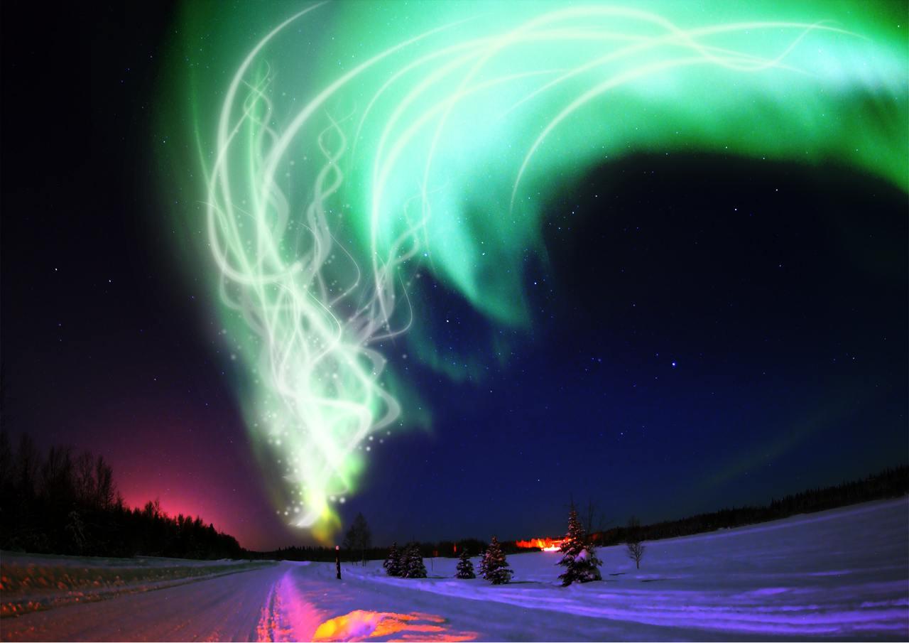 aurora wallpaper cyan