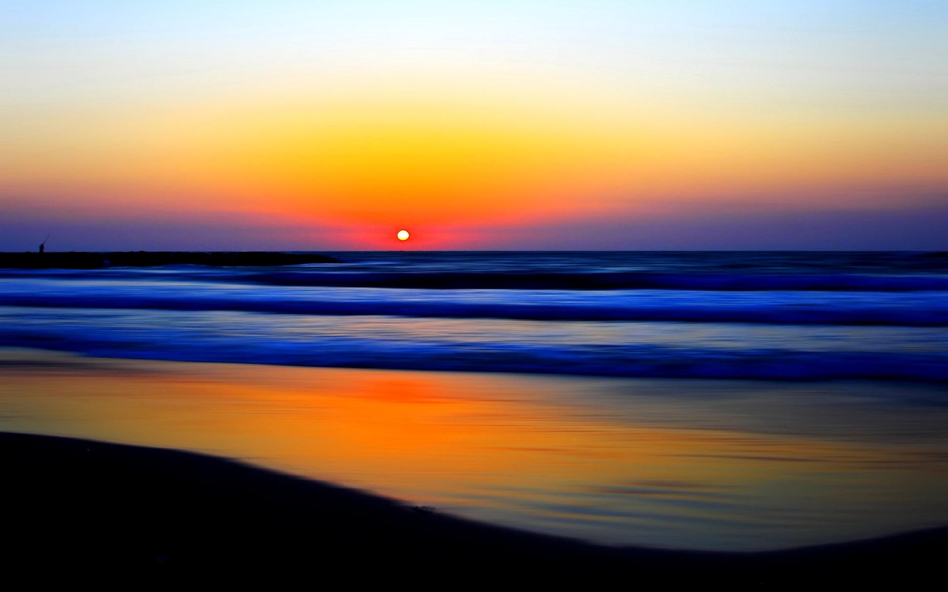 beach sunset wallpapers beautiful
