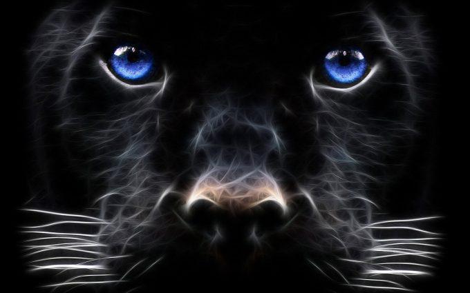 black panther face