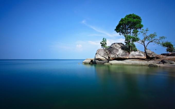 blue wallpaper lagoon