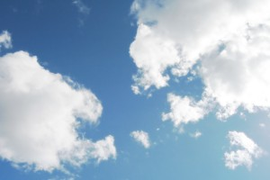 cloud background blue