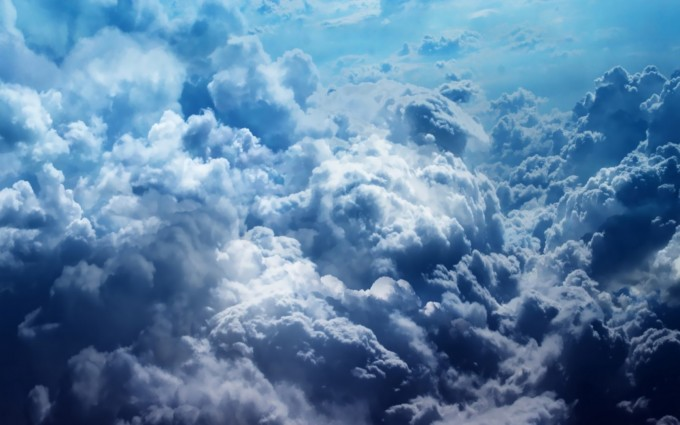 cloud wallpaper dark blue