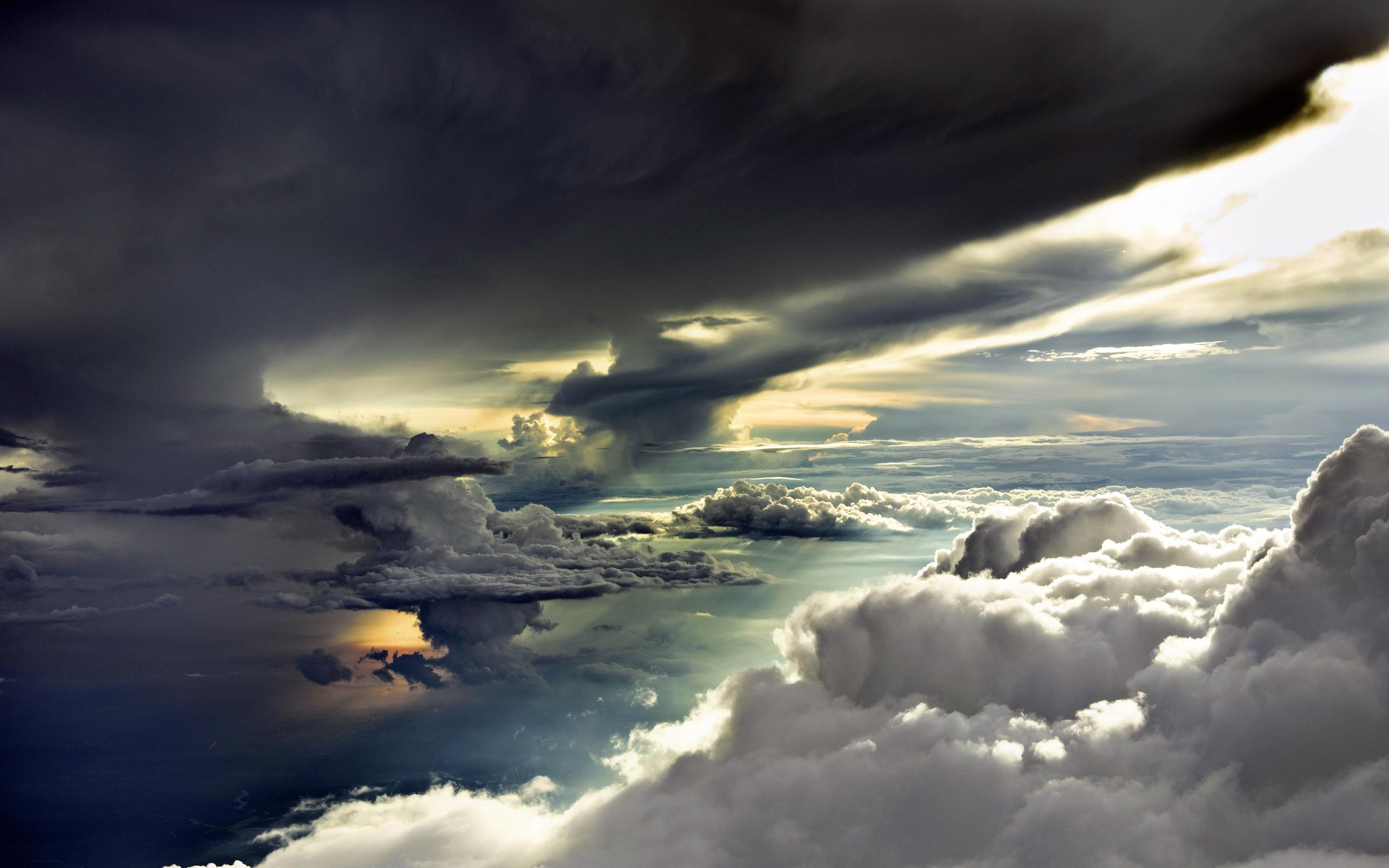 clouds wallpaper dark