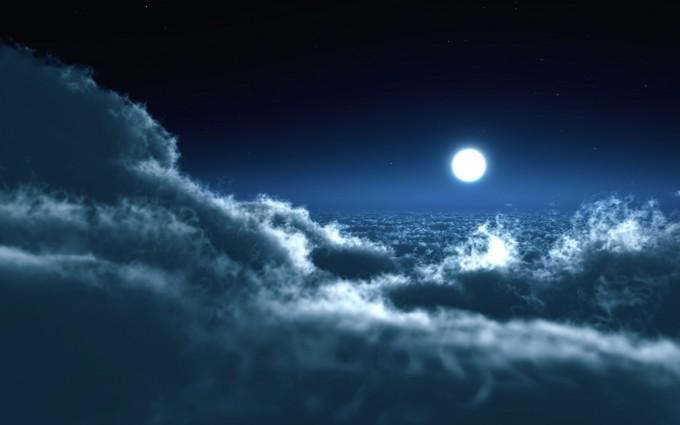 clouds wallpaper night