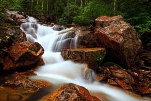 creek waterfall nature