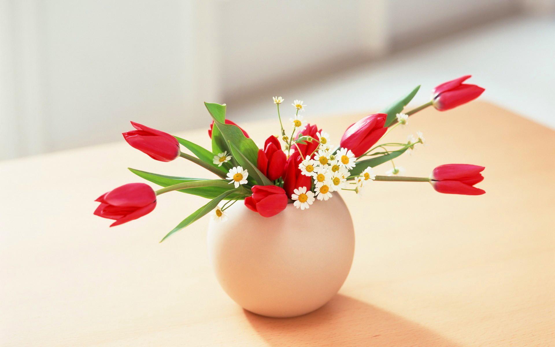 flowers vase wallpaper