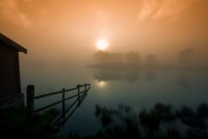 fog wallpaper beach