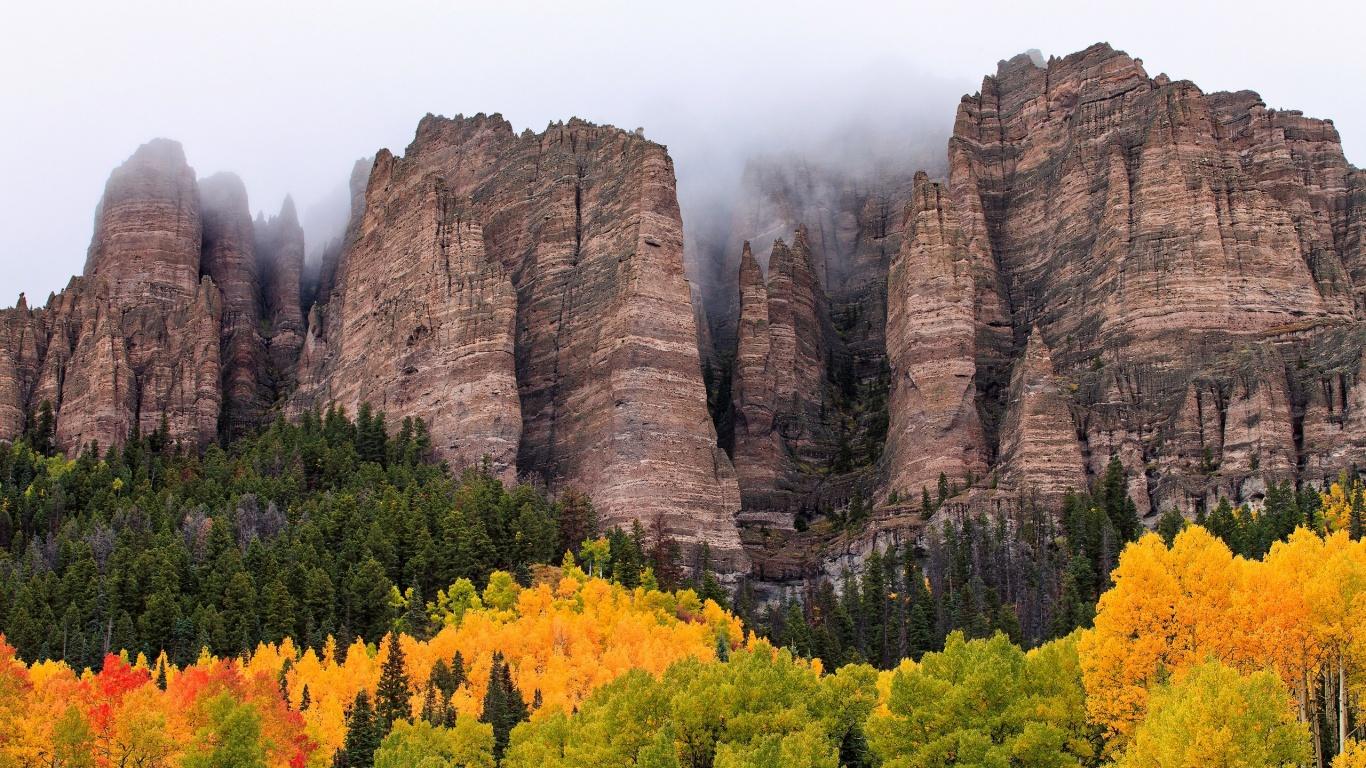 fog wallpaper landscape