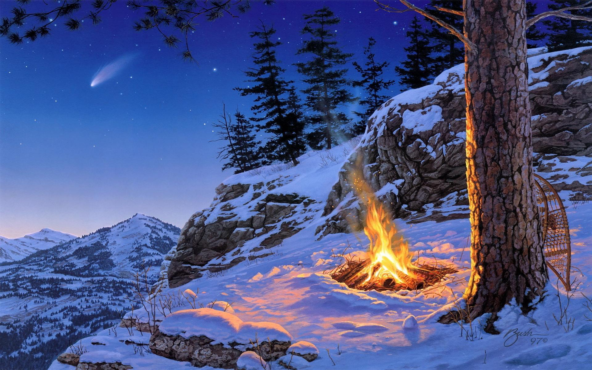 free winter desktop