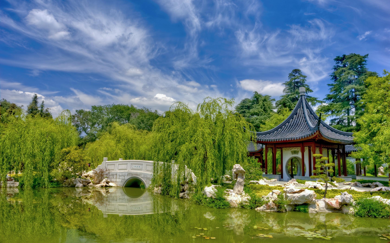 garden wallpaper scenery