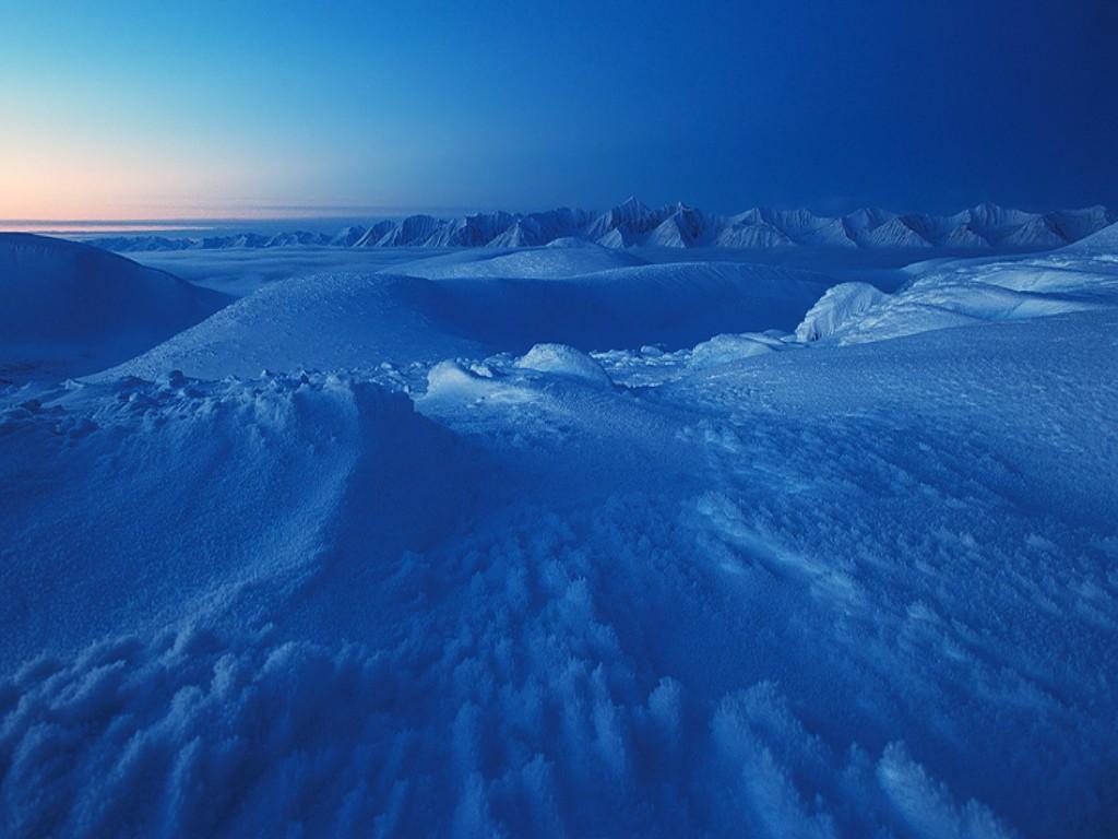 glacier wallpaper blue