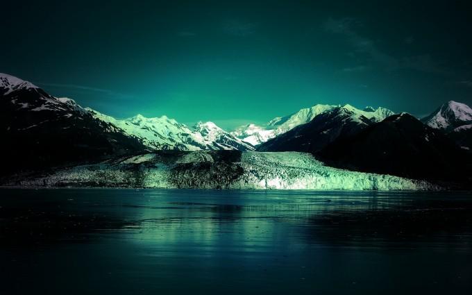 glacier wallpaper green