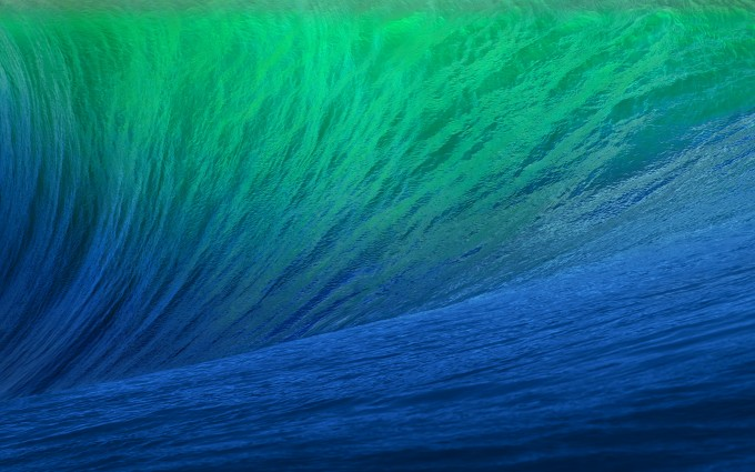 green blue waves