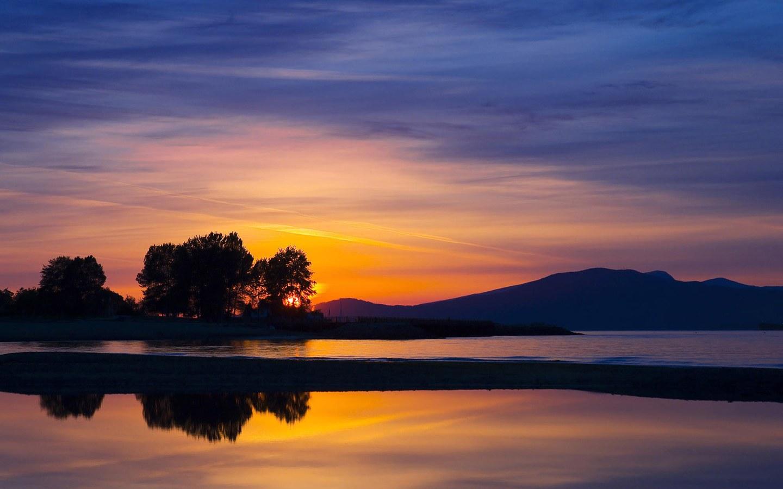 lake backgrounds evening