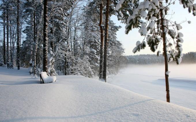 landscape scenery winter