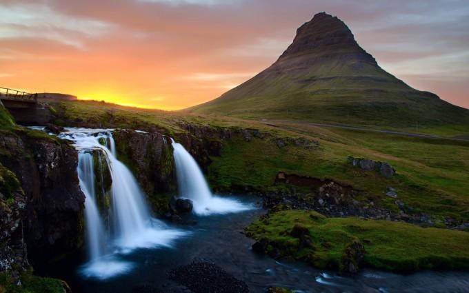 mountain photos waterfall