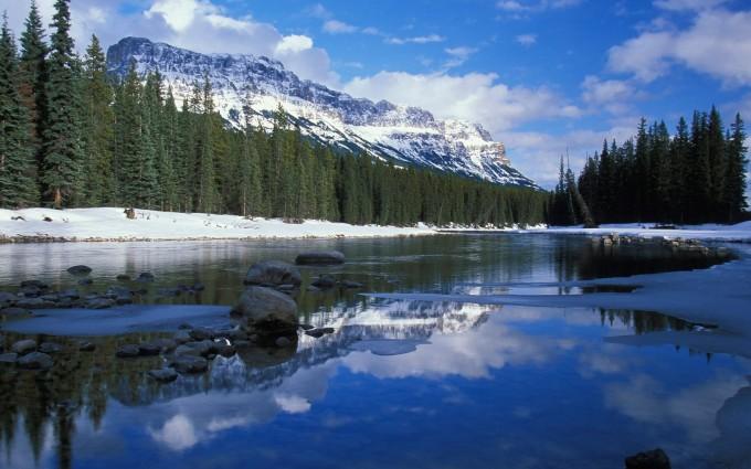 mountain wallpaper lake river