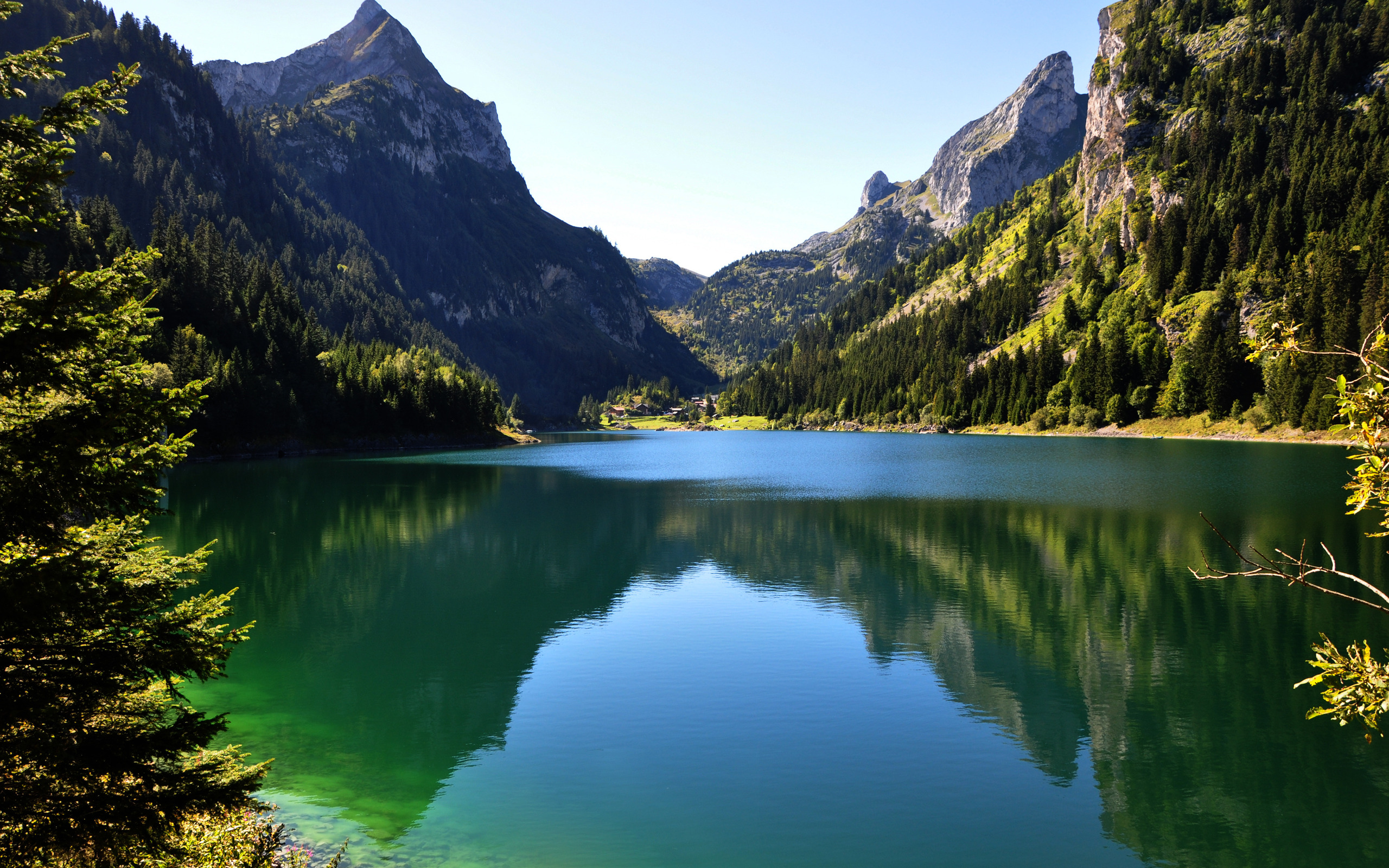 mountain wallpaper pond