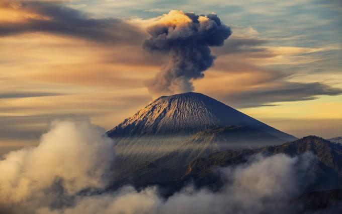 mountain wallpaper volcano