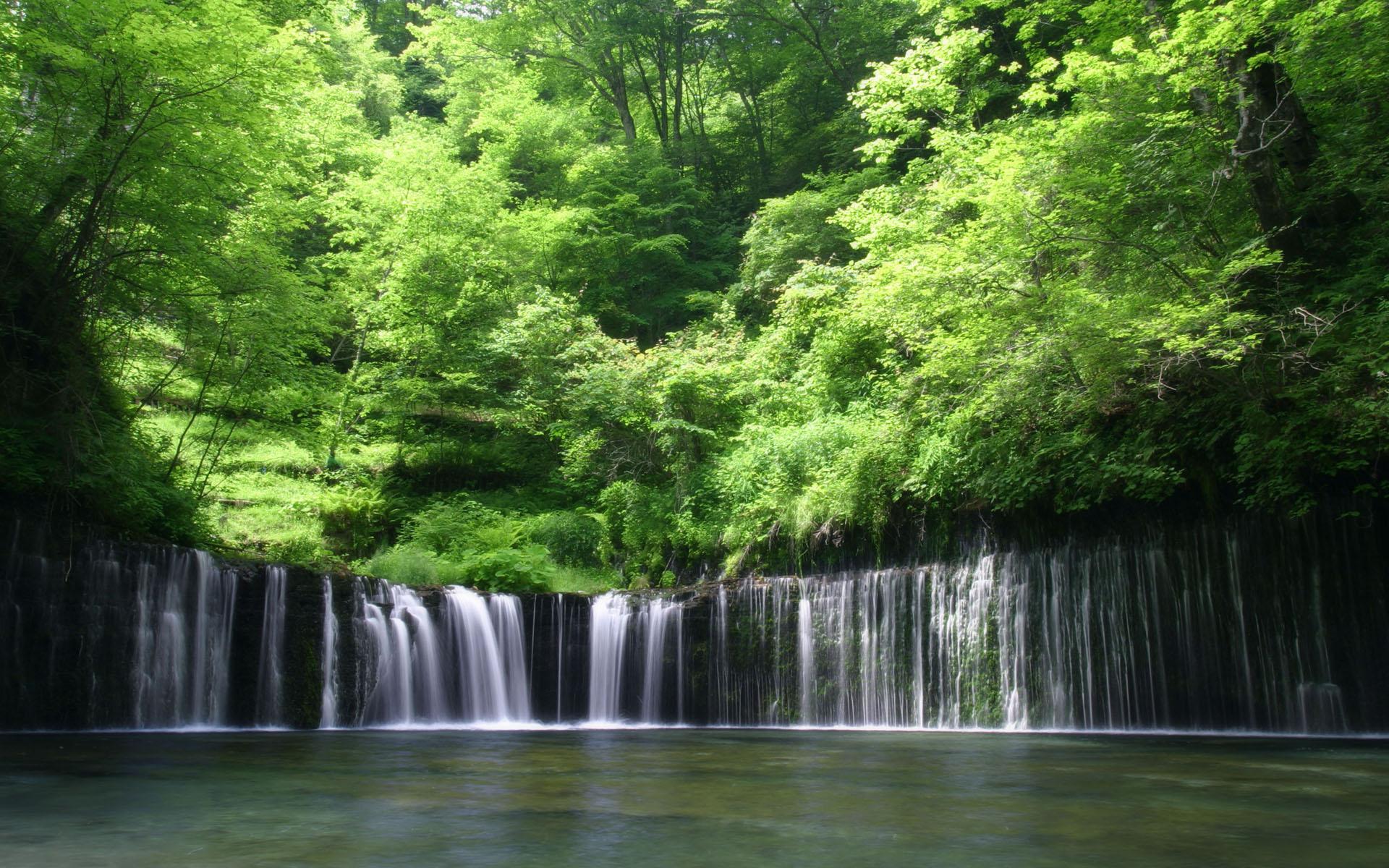 mountain waterfall wallpaper