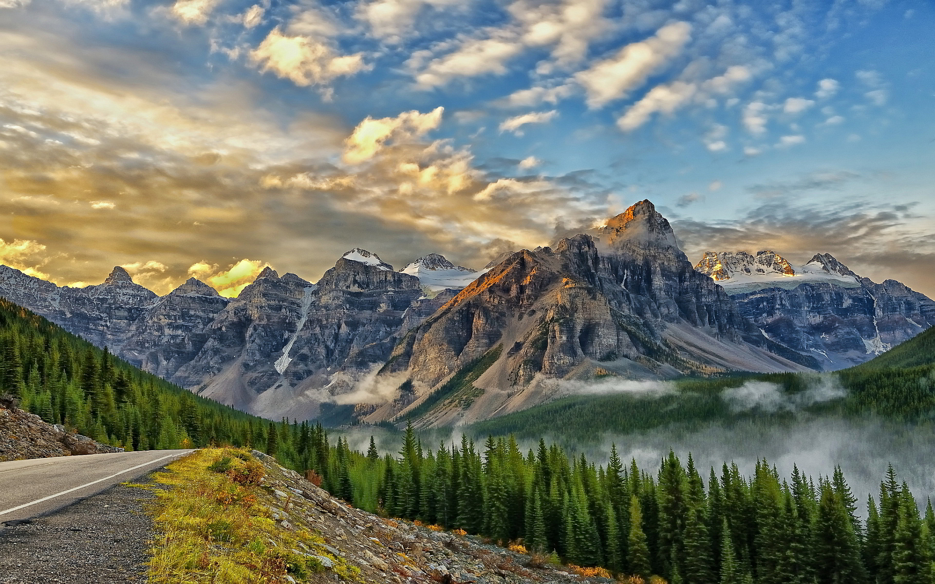 mountains nature scenery background