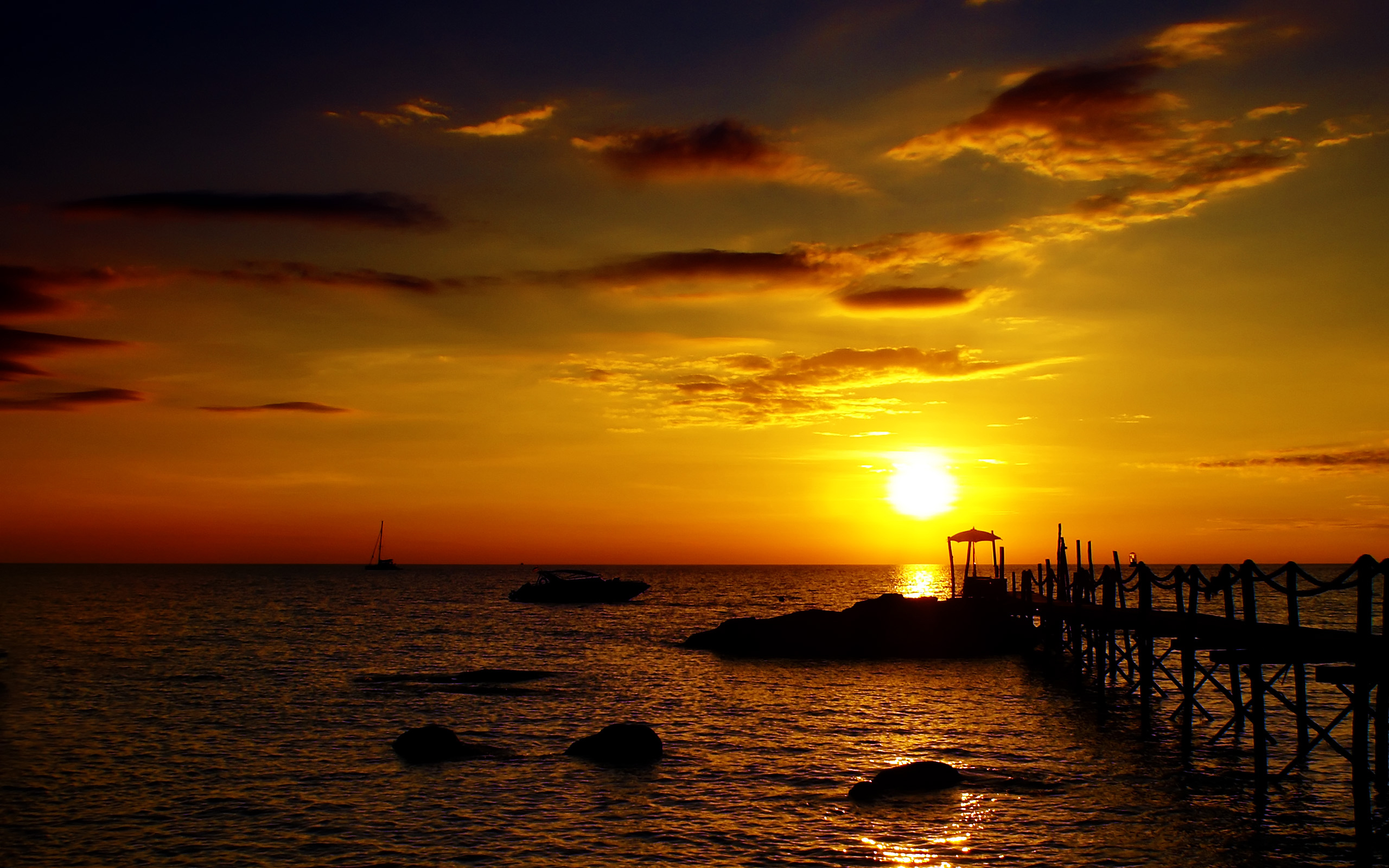 ocean sunset wallpaper 1920x1080p - HD Desktop Wallpapers ...
