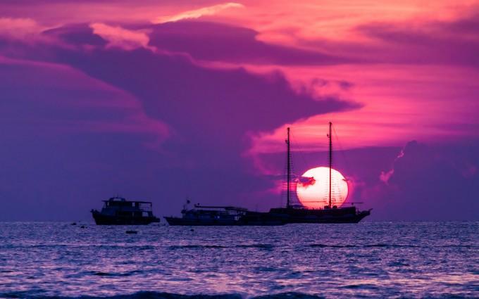 ocean sunset wallpaper 4k